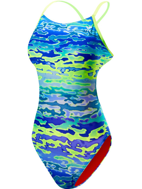 TYR Serenity Cutoutft Bathing Suit Women Blue/Green